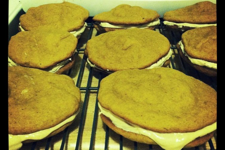 Pumpkin Whoopie Pies with Maple Cream Filling