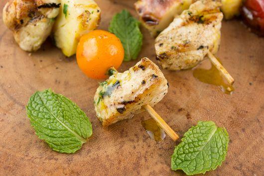 Greek Chicken and Veggie Skewers