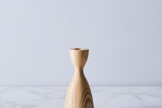 Handturned Wood Candlestick