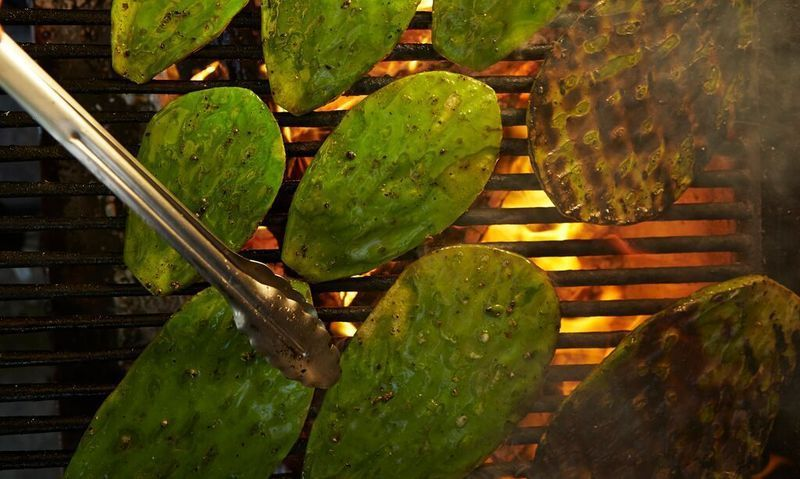 Cactus on the grill at Hartwood