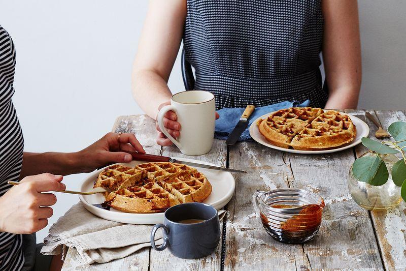 Ras El Hanout Pistachio Belgian Waffles