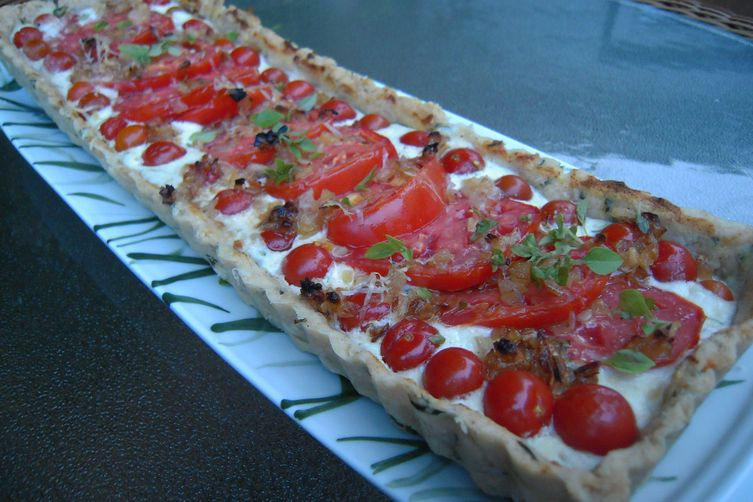 Summer Heirloom Tomato Tart with Herb Crust