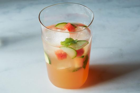 Louisa Shafia's Watermelon, Mint & Cider Vinegar Tonic