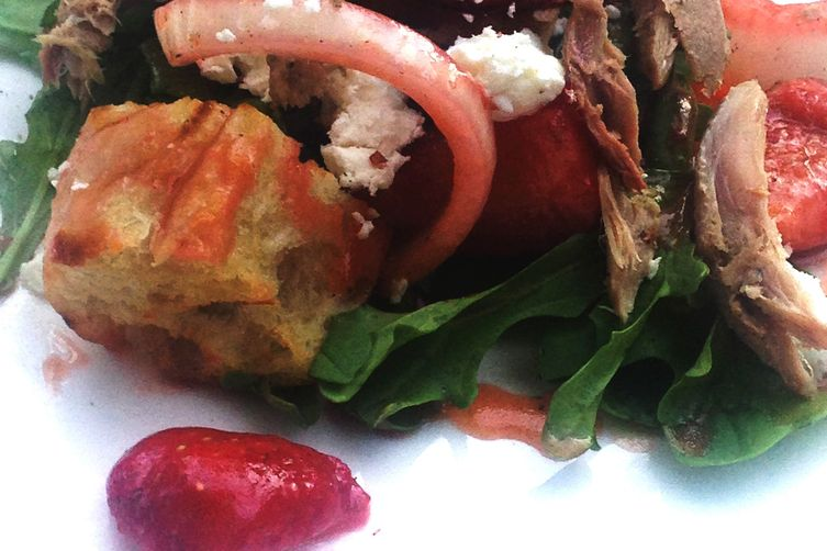 Salad of Duck Confit Starring: Strawberry and Fig