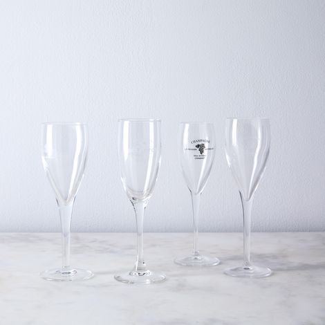 Vintage Found French Champagne Flutes (Set of 4)
