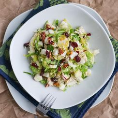 Crunchy Apple and Brussels Sprout Salad
