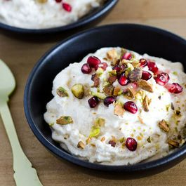 Faith Durand's Coconut-Ricotta Mousse with Pomegranates and Pistachios