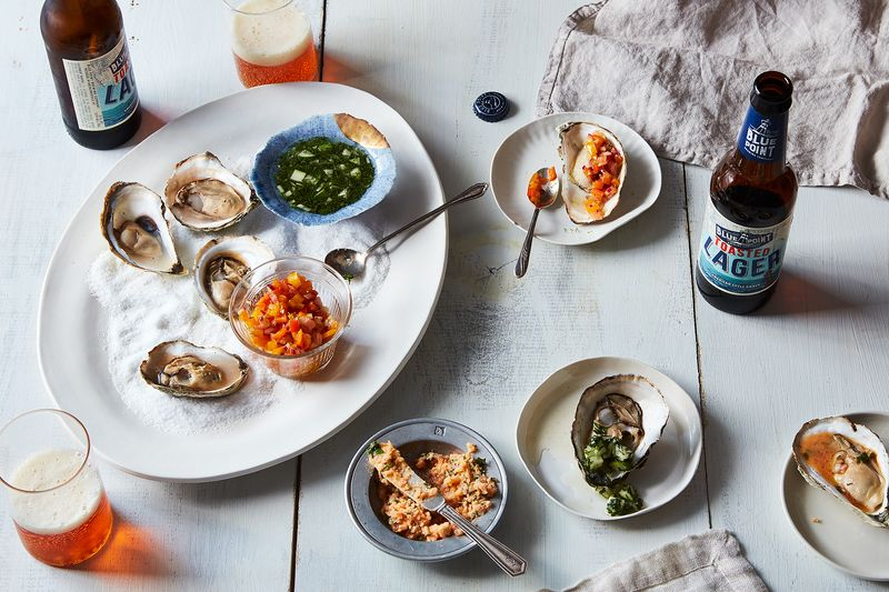 You'll find us at Clam + Chowder slurping up a plate of oysters along with a Toasted Lager.