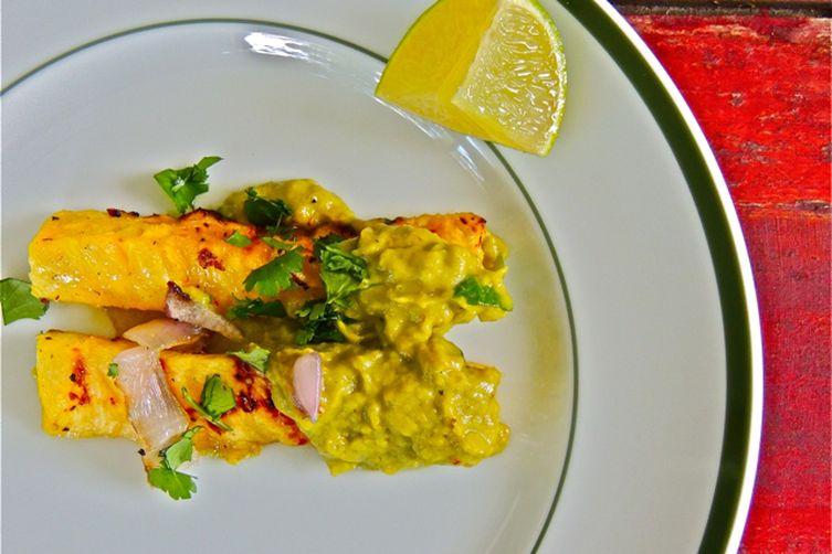 Grilled Pineapple with Smoky Avocado Vinaigrette