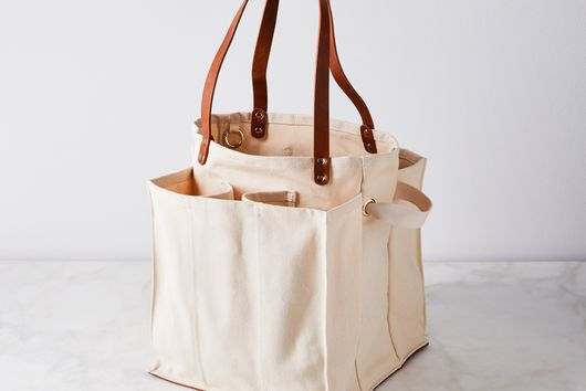 Multi-Pocket Canvas Market Tote