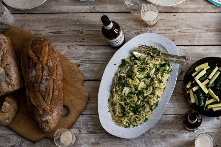 Couscous, Fennel, Mint, and Roasted Lemon Salad Recipe on Food52