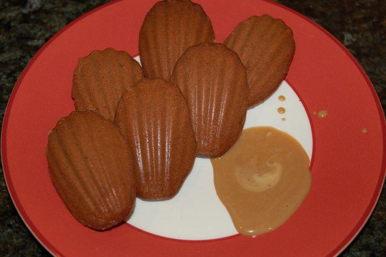 Spiced Chocolate Madeleines with Espresso Cream Sauce