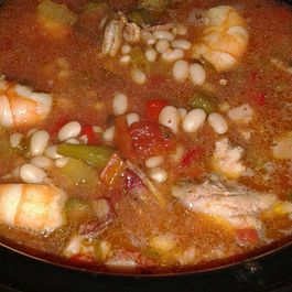 Shrimp Perloo Inspired White Bean Stew