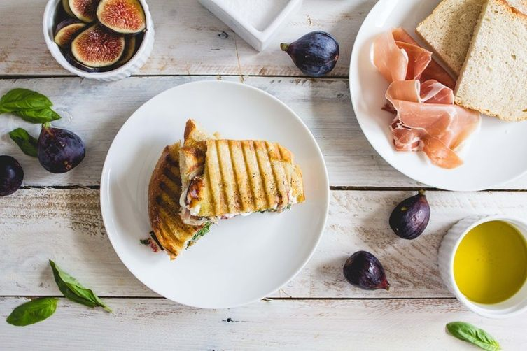 Fig, Prosciutto & Goat Cheese Panini