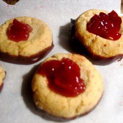 Chocolate Cherry Thumbprints