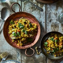 Comfort Fish and Chickpea Pilaf