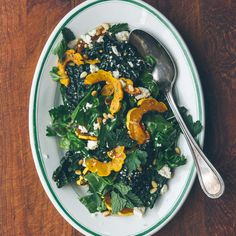 Swiss Chard and Winter Squash Salad with Pomegranate Vinaigrette
