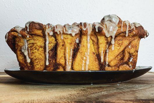 Vegan Pumpkin Pull-Apart Loaf