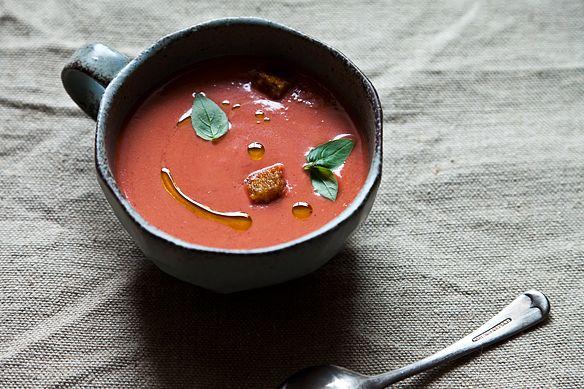Green Cab Madison >> How to Make Strawberry Gazpacho - Genius Recipes