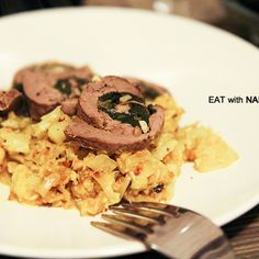 Lamb Roulade with Satay Sauced Cauliflower