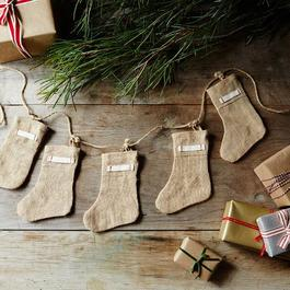 Burlap Mini Stocking Garland