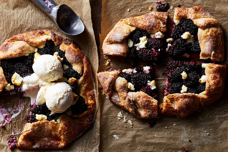 Blackberry Galette with Flaky Goat Cheese Pastry