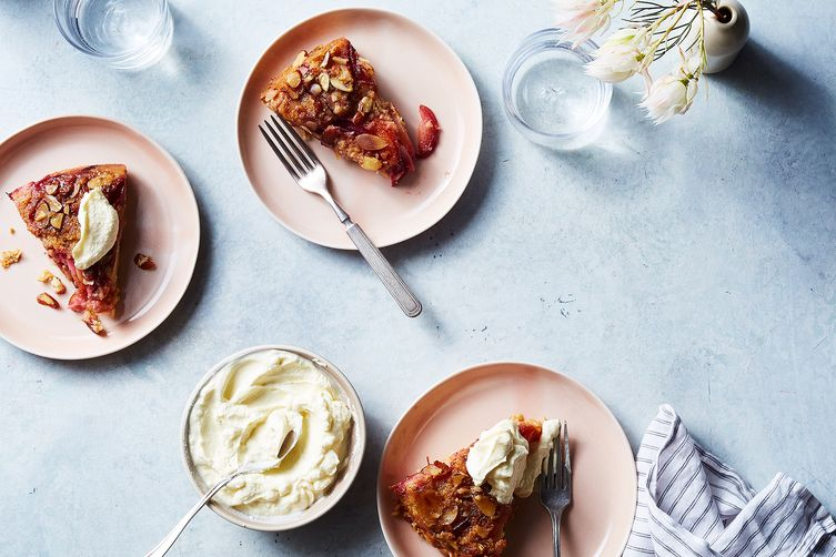 Plum-Nectarine Upside-Down Skillet Cake