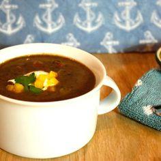 Black Bean Soup with Fennel Sausage