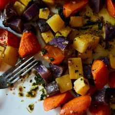 Roasted Vegetable Salad with Chimichurri Sauce