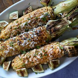 Grilled Mexican corn