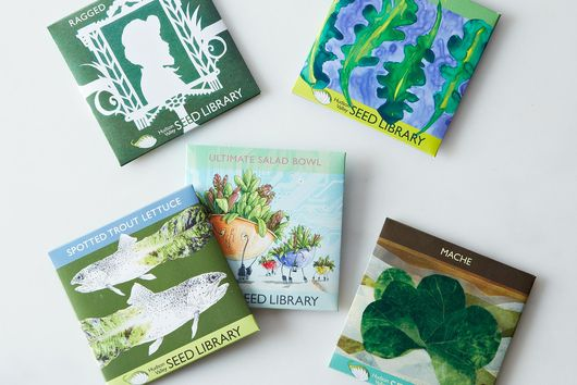 Heirloom Seed Art Packets, Gourmet Greens (Set of 5)