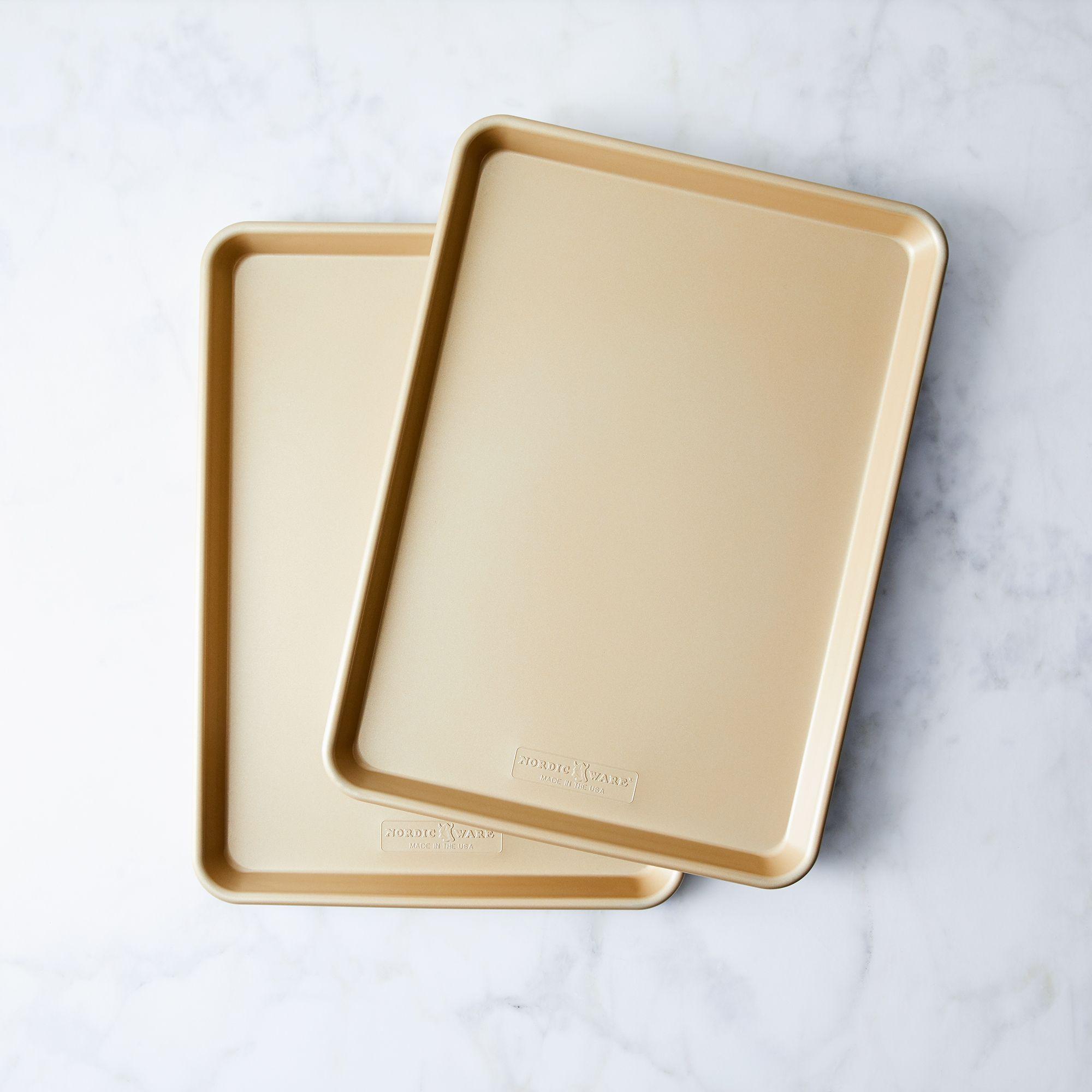 Nordic Ware Gold Nonstick Baking Sheet Sets - Half Sheets (Set of 2)
