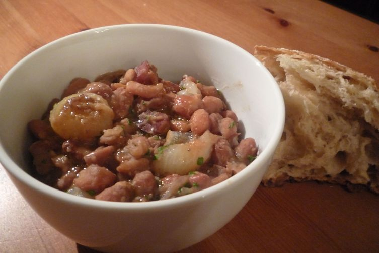 Borlotti Beans Braised with Cipolline