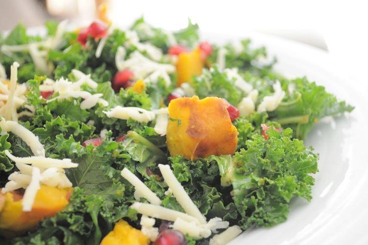Roasted Kabocha and Kale Fall Salad