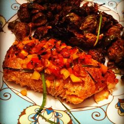 Sweet Pepper Cedar Plank Salmon