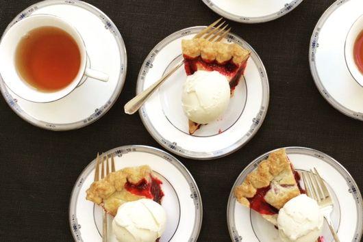 Cherry and Olallieberry Pie