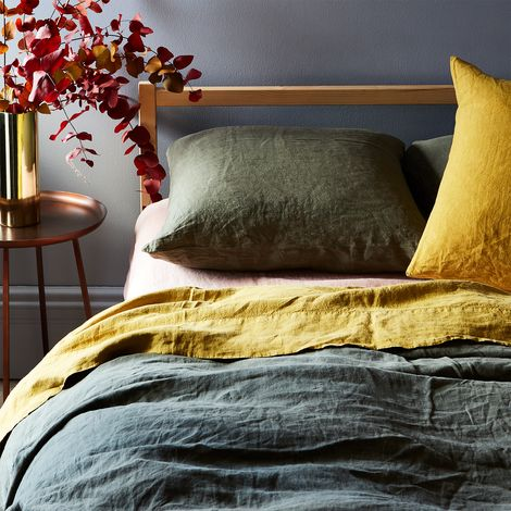 Stonewashed Linen Bedding (Queen)