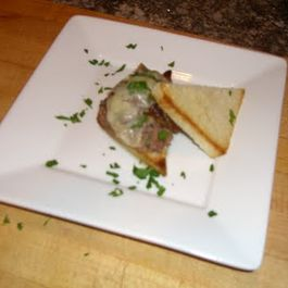 Duck Confit, Carmelized Onion and Gruyere Sandwich