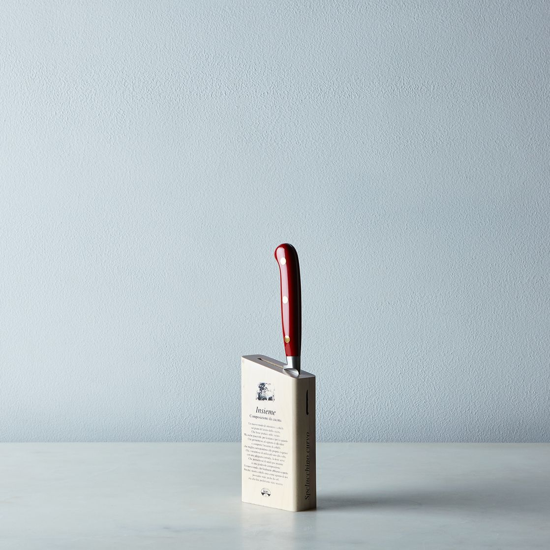 White Kitchen Knives berti red-handled italian kitchen knives on food52