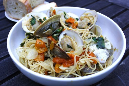 Little Neck Clams with Sungold Tomatoes