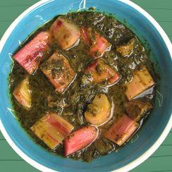 Khoresh 'eh Rivas -- Persian Rhubarb Stew