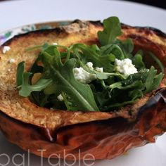 Roasted Pumpkin Salad with Arugula & Chèvre