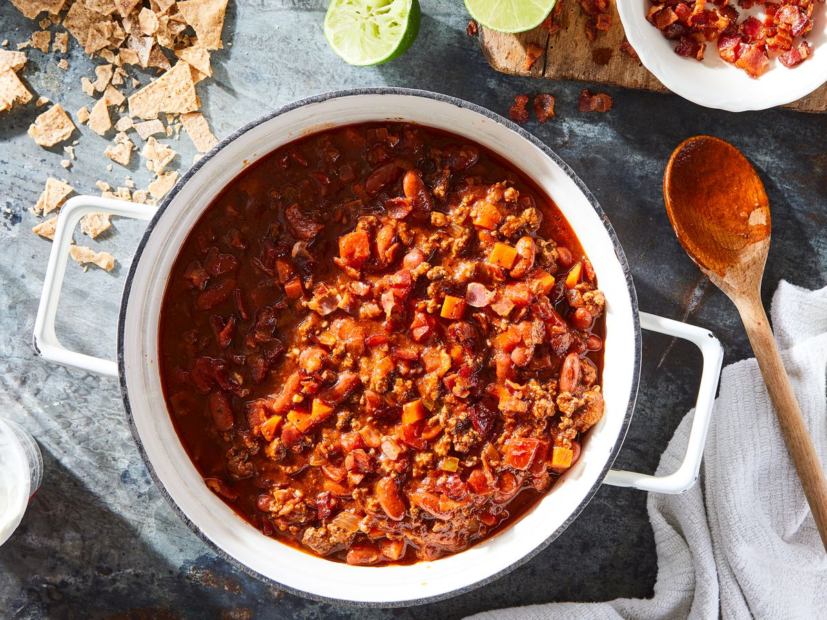 Best Chili Recipe How To Make Beef Chili With Bacon Beans