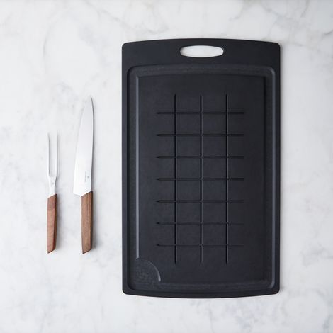 Matte Black Carving Board & Knife Set