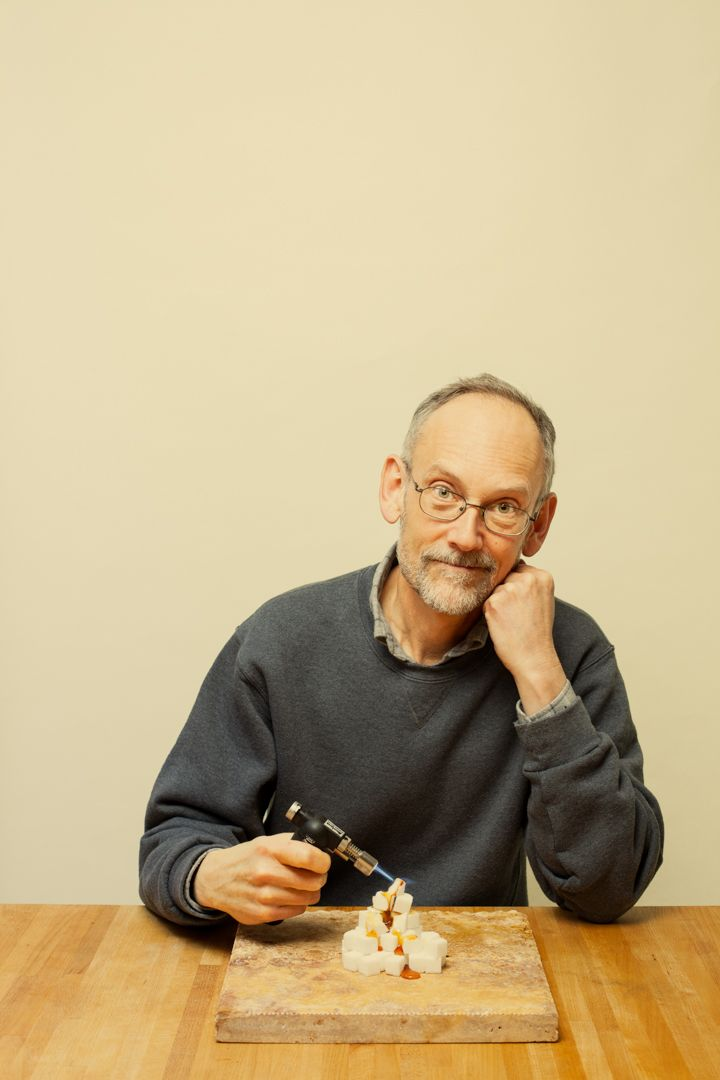 Harold McGee is a food scientist and author. When Roman brought him a copy of this portrait, Harold sat him down for a cup of tea.