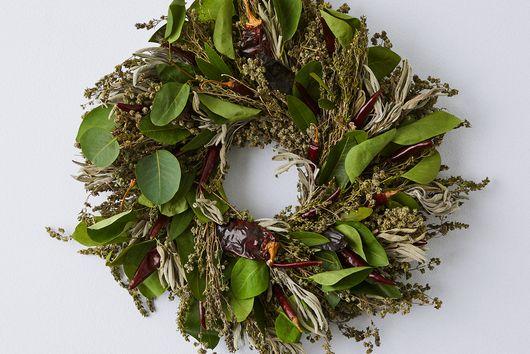 Chili Pepper Eucalyptus Wreath