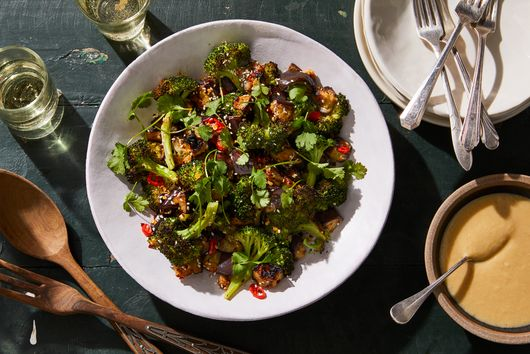 Spicy Miso Eggplant & Broccoli Salad, From Deliciously Ella