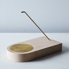 Maple & Brass Incense Holder
