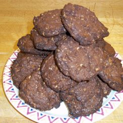 Traveling Double Chocolate Coffee Cookies