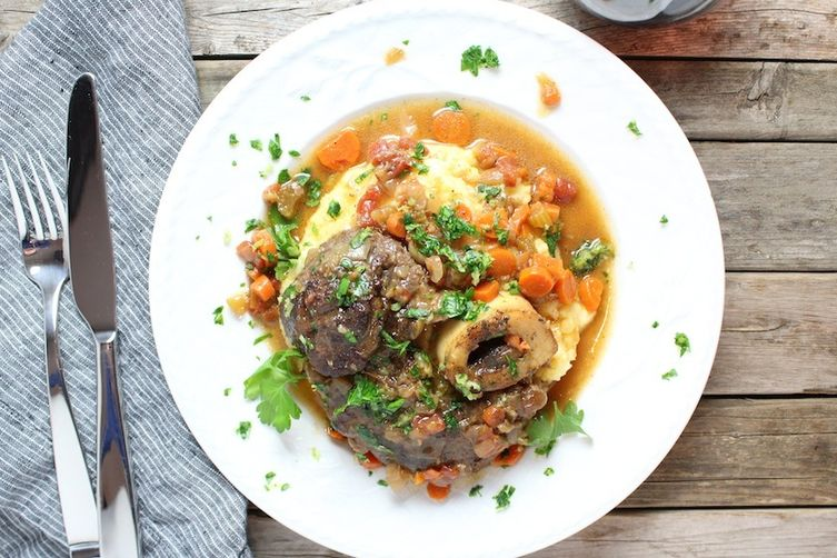Veal Osso Buco With Parmesan Polenta